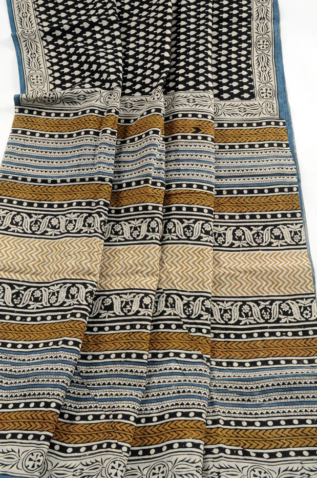 Bagru block print  saree