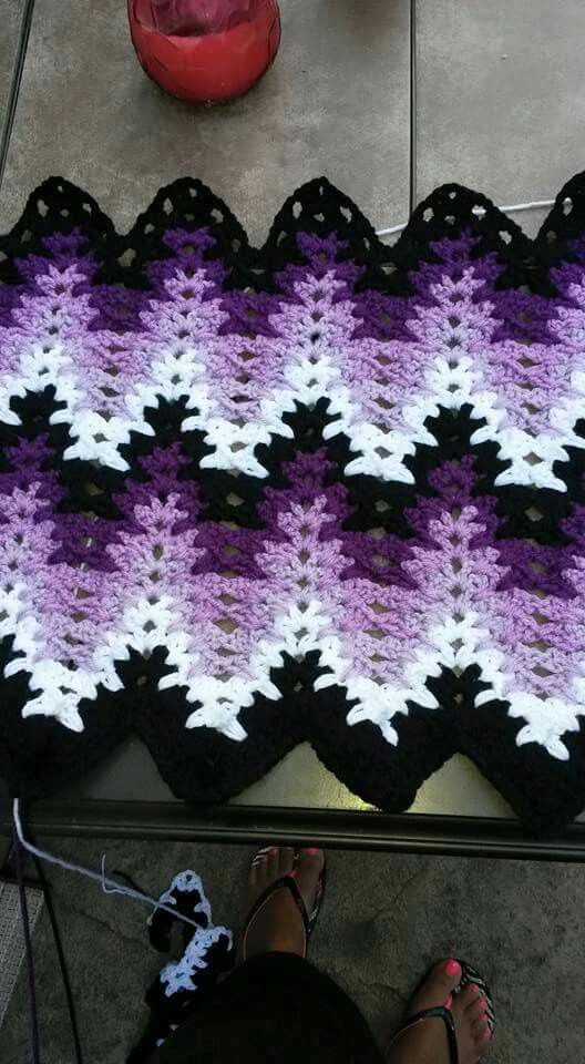 Breaking Amish crochet blanket