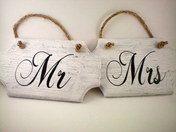 Real Weddings and Wedding Inspiration Ideas | Mr. and Mrs. Signs ...