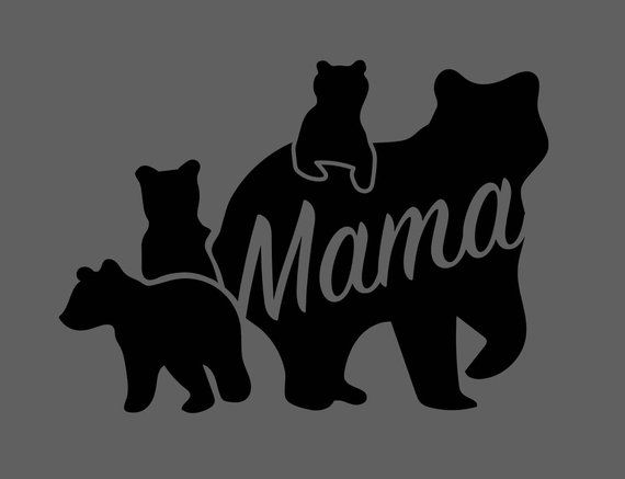 Mama Bear With Cubs Svg File For Vinyl Cutting