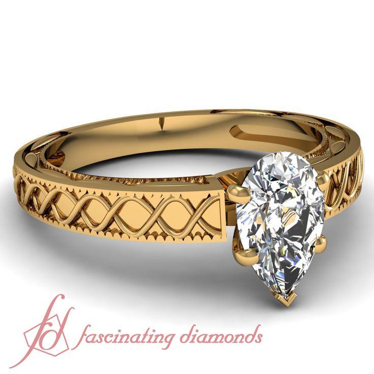 Wave Design Bands: 26 Best Under 1 Carat Diamond Rings Images On Pinterest