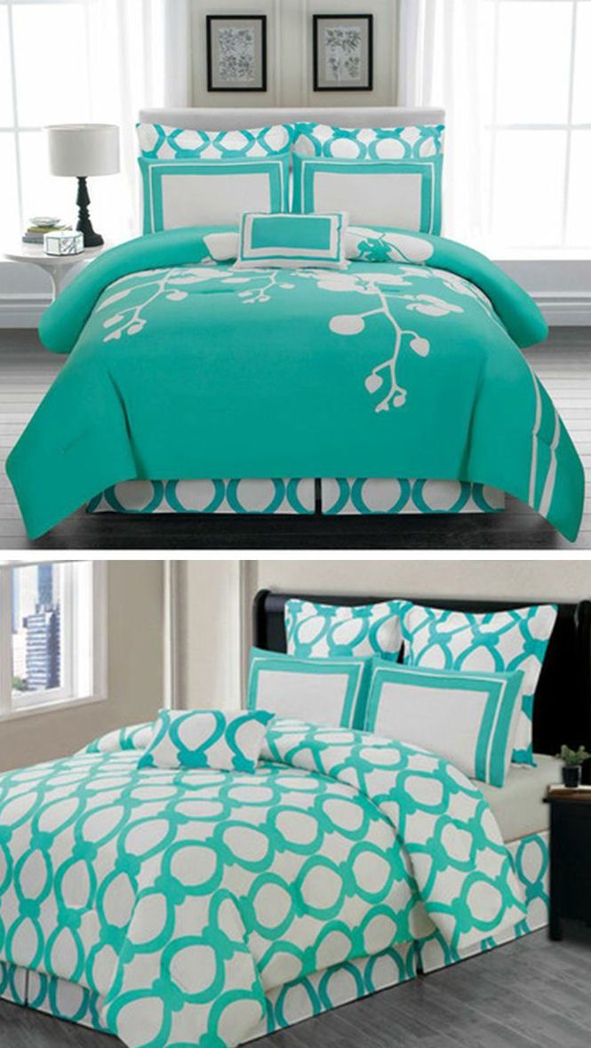 Reversible Turquoise Bedding ♥