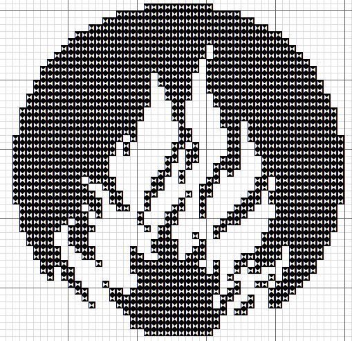 Divergent Faction Symbols (Film)  Pattern 3 of 3. 48x48 stitches.  Cross stitch pattern for Dauntless