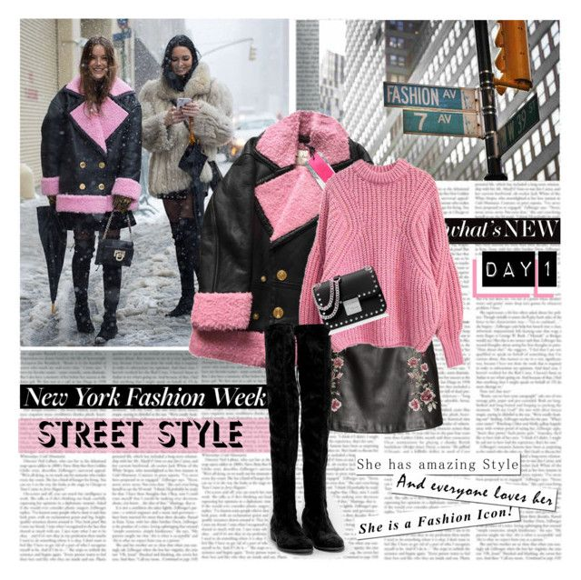 """NYFW Day 1 Street Style What's New"" by stylepersonal ❤ liked on Polyvore featuring Nly Shoes, MICHAEL Michael Kors, StreetStyle, day1 and NYFWSS17"