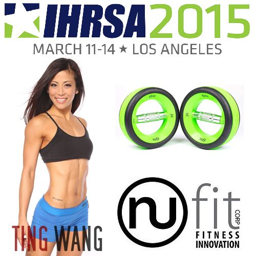 Doing anything this Friday? Come visit the @nufitcorp booth 668 at the #IHRSA2015 show at the LA Convention Center. I'll be there 1-6pm. Don't be shy, come say hi !   Give our ergonomic fitness equipment a go. I picked up a set of NuBells and I'm loving them! They're comfortable on the wrist, and might I add.. pretty to look at too .  #ihrsa #nufitcorp #nufit #fitness #tingfit