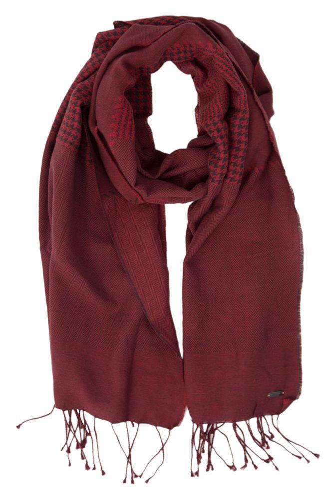Rode sjaal met zwarte afwerking hugo boss orange online bij Deleye.be & BeKult