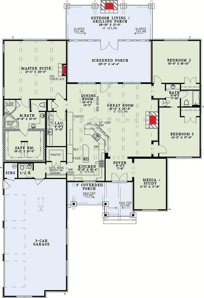 Nice Plan 60671ND: Rustic Mountain Home Plan Part 17