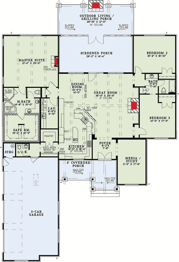 Rustic Mountain Home Plan - 60671ND | 1st Floor Master Suite, Butler Walk-in Pantry, CAD Available, Corner Lot, Craftsman, Den-Office-Library-Study, Mountain, Northwest, PDF, Split Bedrooms | Architectural Designs