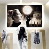 Wall Mounted LitexFrame - Perfect for Retail Window Displays... Fabric graphics change with ease
