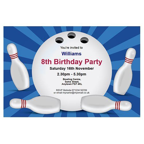 19 Best Bowling Party Images On Pinterest Birthdays, Bowling   Bowling  Flyer Template Free  Bowling Flyer Template Free