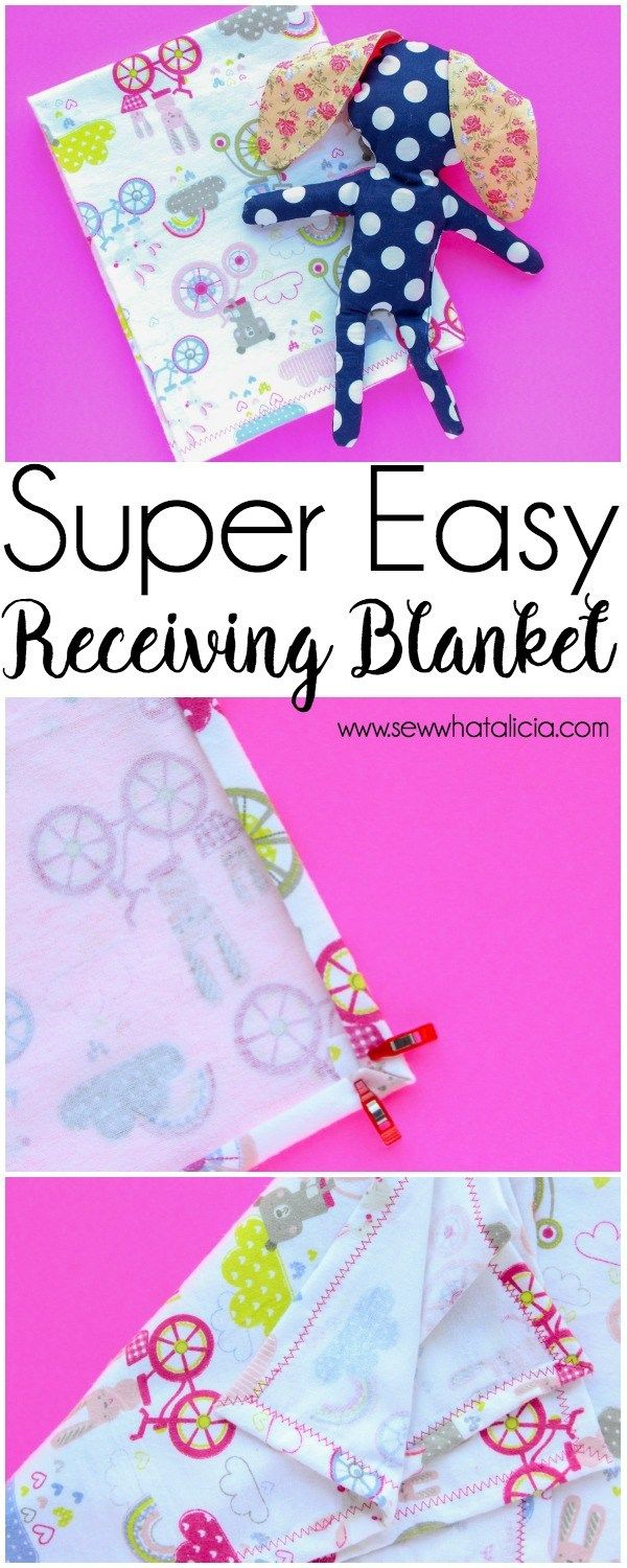 How to Make a Baby Blanket: This beginner sewing tutorial is perfect for anyone …