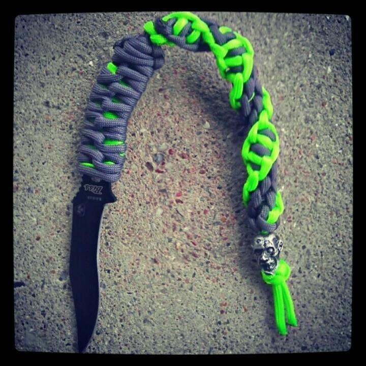 Zombie killa ka bar zombie killer fixed blade knife with for Knife lanyard ideas