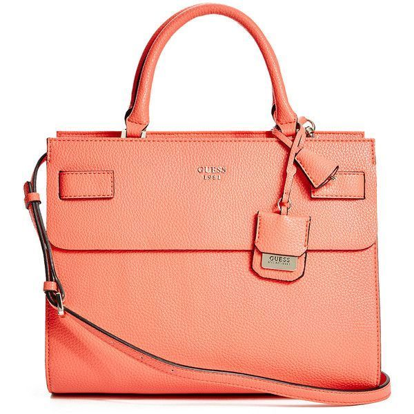 GUESS Cate Satchel ($118) ❤ liked on Polyvore featuring bags, handbags, tomatoe, handbag satchel, red satchel bag, guess purses, red purse y red handbags - Sale! Up to 75% OFF! Shop at Stylizio for women's and men's designer handbags, luxury sunglasses, watches, jewelry, purses, wallets, clothes, underwear & more!