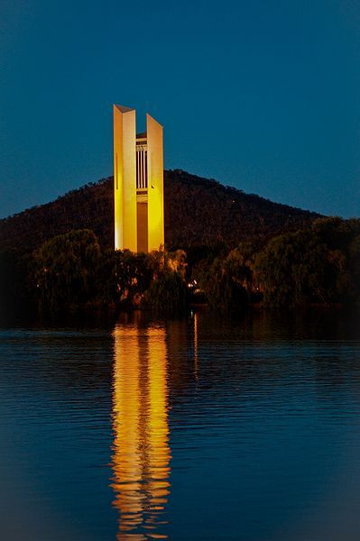 National Carillon at night - Canberra