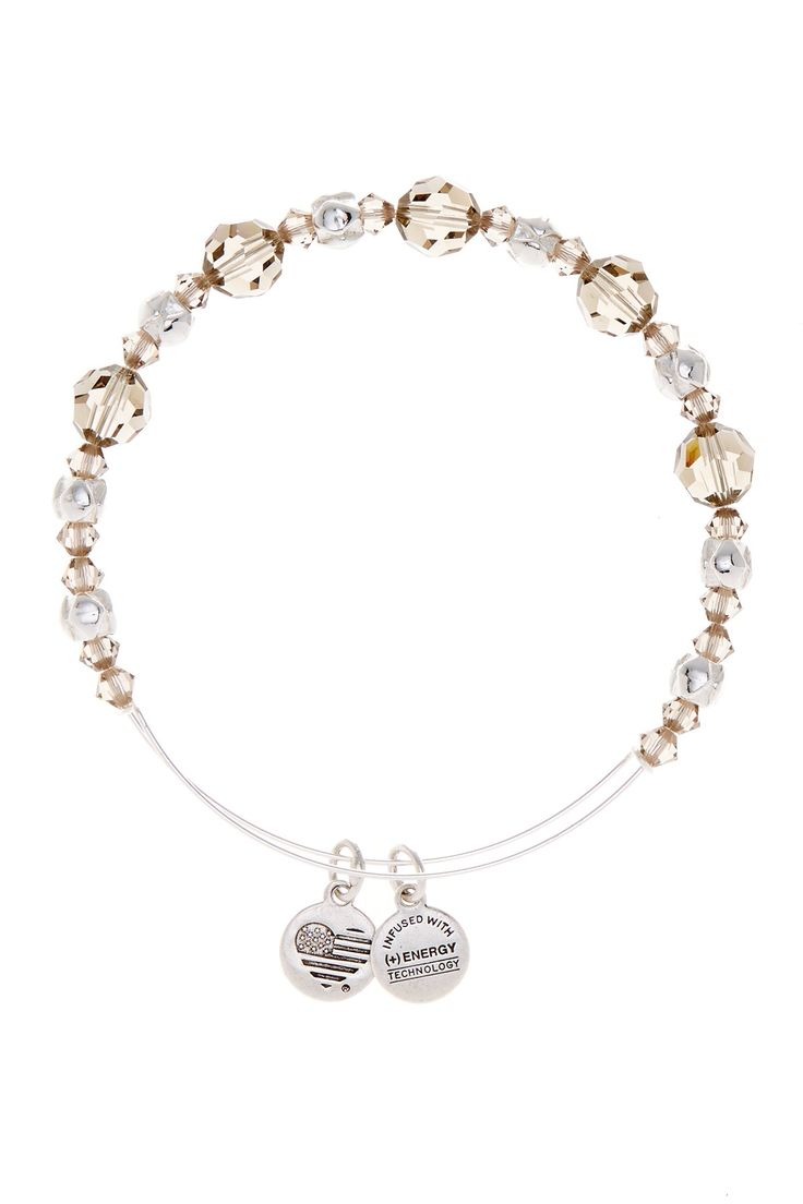 Moon Faceted Crystal Bead Adjustable Bracelet
