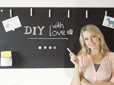 Tutorial fai da te: Come fare una lavagna magnetica da parete via DaWanda.com
