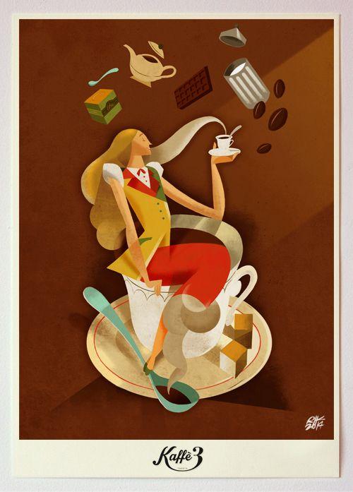 Illustration for Kaffe3 - Trento. Riccardo Guasco 2014
