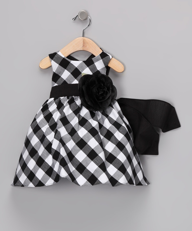 Black & White Gingham Dress - Infant, Toddler & Girls | Daily deals for moms, babies and kids