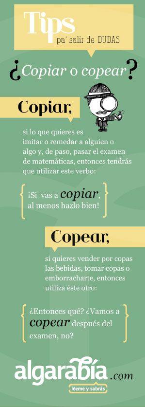 Gramática española ¿Copiar o copear?