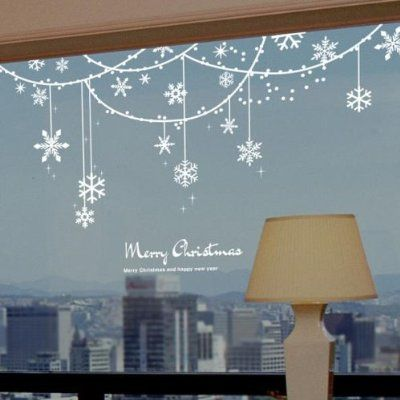 Snowflake Solid Decoration Christmas Window Sticker Mehr