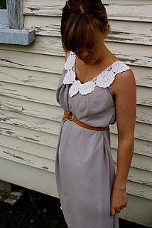 DIY Doily dress.