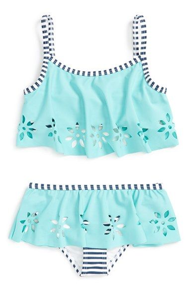 Tucker + Tate Two-Piece Swimsuit (Toddler Girls, Little Girls & Big Girls) available at #Nordstrom