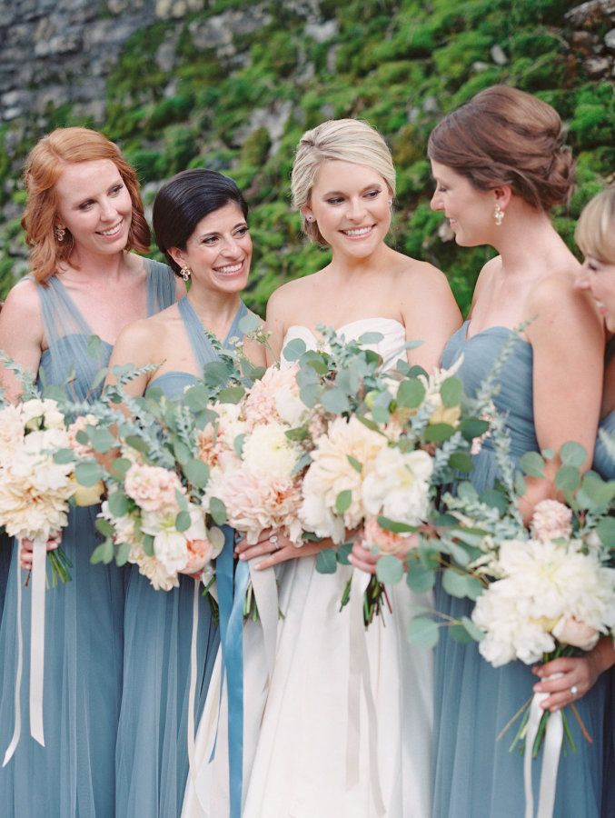Spring colors bridesmaid dresses