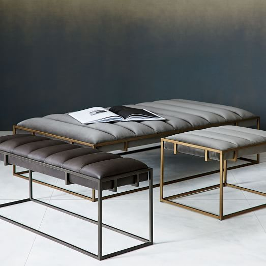 fontanne leather bench