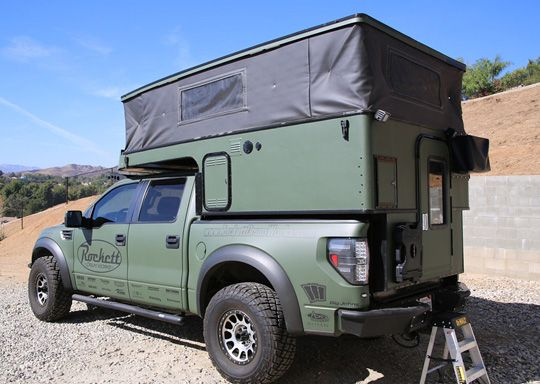 Raptor-Camper-pop-up, can't help that its a Ford but the camper looks cool