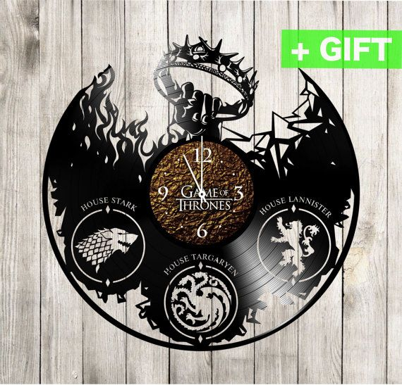 Game of thrones sticker on the wall clock Game by SInteriorsShop