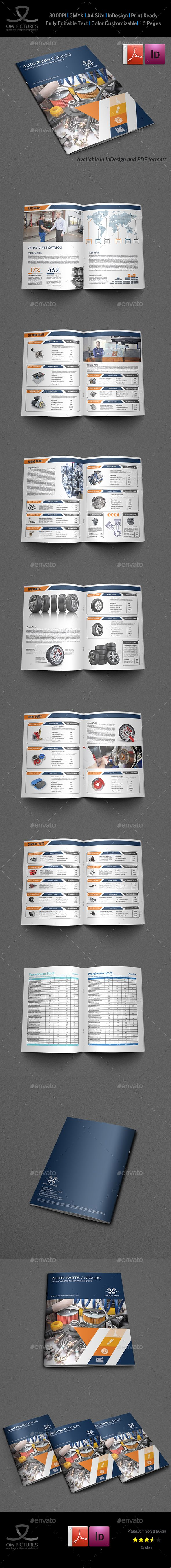 Auto Parts Catalog Brochure Template 	InDesign INDD. Download here: http://graphicriver.net/item/auto-parts-catalog-brochure-template-vol2/16037041?ref=ksioks