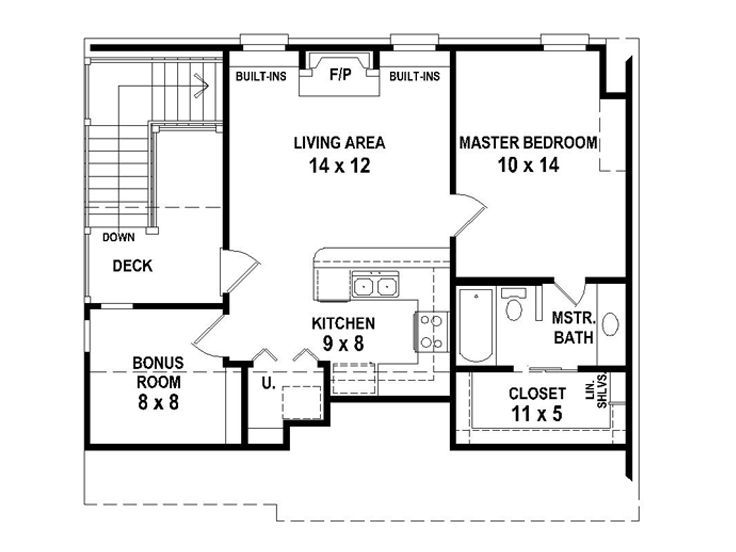 Garage apartment 2nd floor plan or remove the side with for Garage apartment plans 1 bedroom