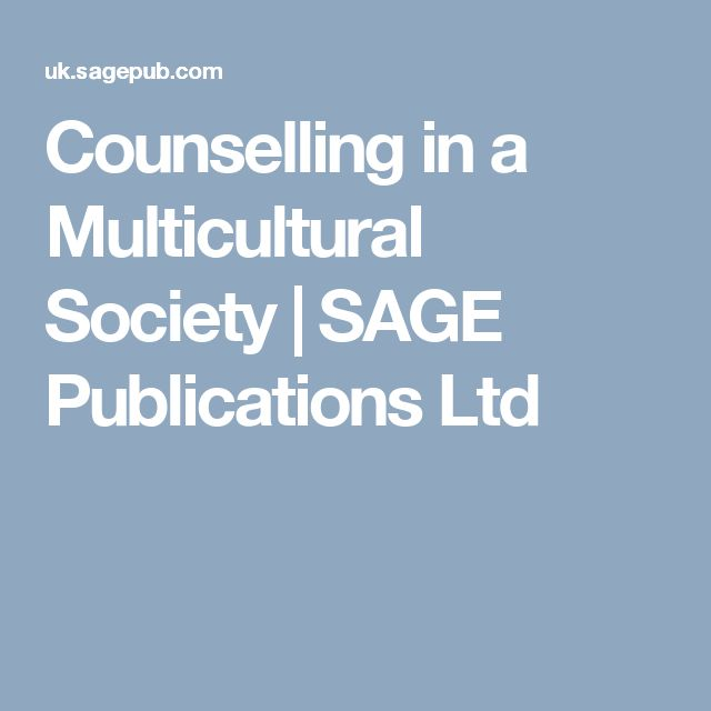 Counselling in a Multicultural Society | SAGE Publications Ltd