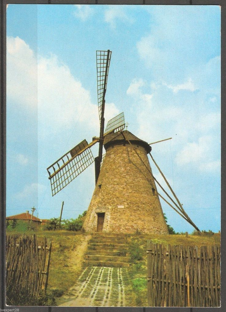 Hungary Ungarn windmill in Kiskunhalas rare used Postcard | eBay