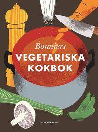 """Sugen på att äta grönt? Vill du dra ner på köttet och äta mer """"klimatsmart""""? Har du en tonåring där hemma som är vegetarian? Oavsett om du bara är nyfiken på ett grönare liv eller redan äter vegetariskt så är Bonniers vegetariska kokbok boken för dig!  Allt om Mat-redaktionen har tagit fasta på svenskarnas växande intresse för vegetarisk mat och valt ut 300 av sina bästa gröna recept. Här finns en blandning av klassisk svensk husmanskost som vegetariska köttbullar och kroppkakor o..."""