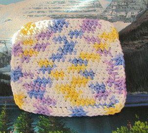 0255 Hand crochet dish cloth 6 by 6 by LandLCandlesandCraft on Etsy
