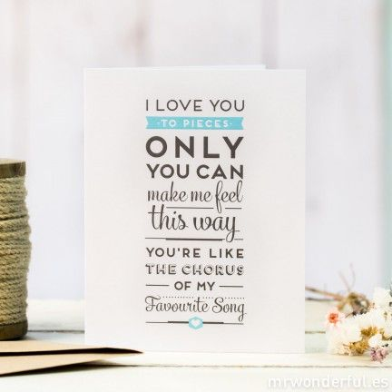 Pack de 5 tarjetas con relieve - Only you can make me feel this way (ENG)
