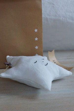 doudou étoile endormie à faire en tissu lange