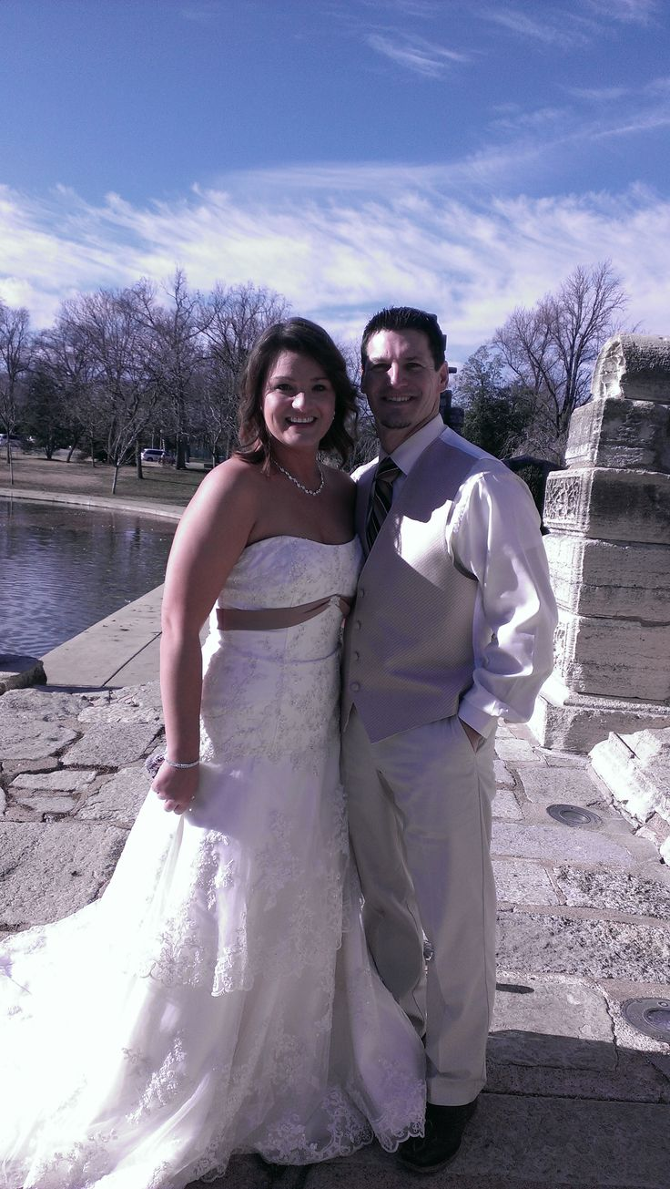 Johnny and Chrissy were married at Tower Grove Park on 12-26-14