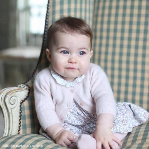 A #princesa Charlotte é a quarta na linha de sucessão ao trono britânico.