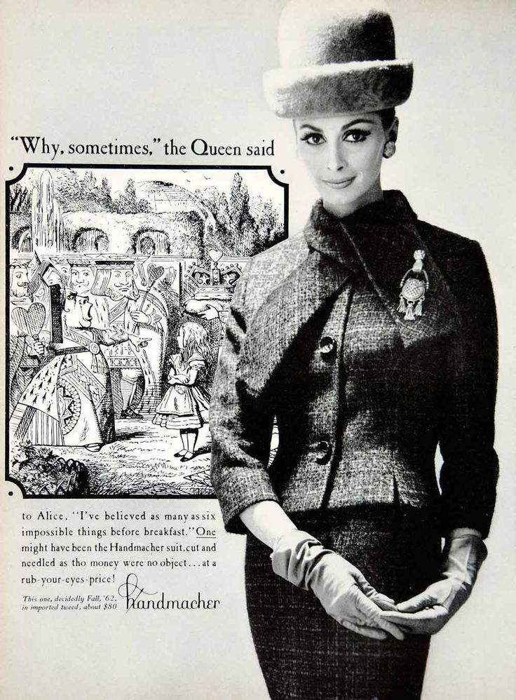 Canada Goose jackets outlet 2016 - 1962 Ad Vintage Handmacher Tweed Wool Suit Woman Gloves Hat 60s ...