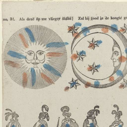 Als deze op uw vlieger staan; / Zal hij goed in de hoogte gaan, D. Lijsen, Jan Bernardus Ulrich, Anonymous, 1836 - 1849 - Search - Rijksmuseum