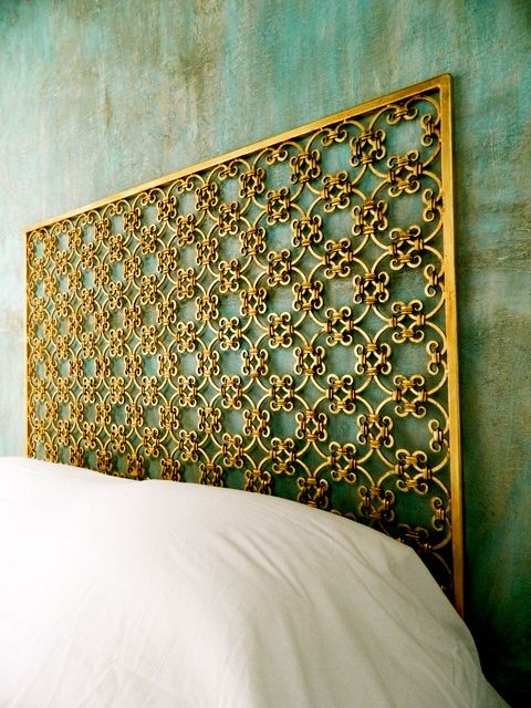 Gold and girly headboard