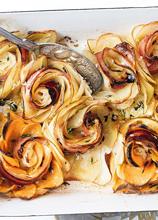 How to make Potato Roses with Prosciutto & Thyme