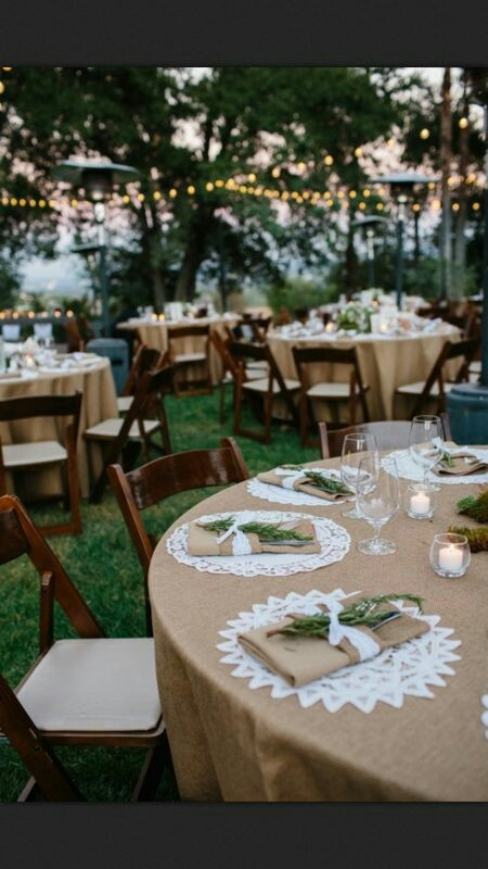 Burlap and lace. We love this look for Tallahassee Florida weddings!