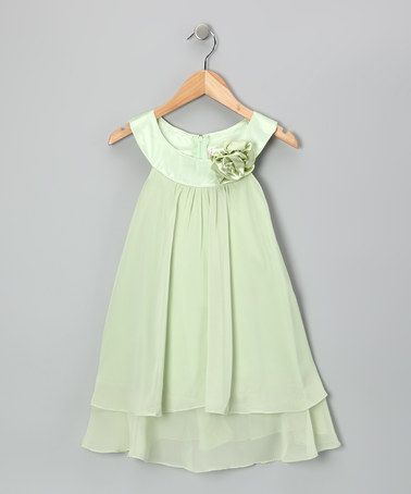 Take a look at this Green Flower Yoke Dress - Toddler & Girls by Kid's Dream on #zulily today!
