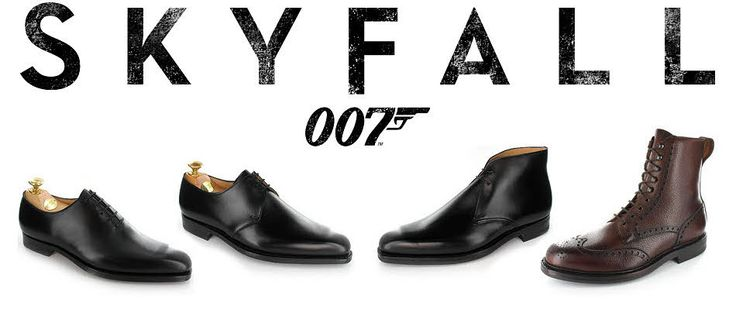 Northampton shoe maker, Crockett & Jones have supplied 4 styles to live up to James Bond's expectations. These include; Alex in Black Calf, Highbury in Black Calf, Tetbury in Black Nubuck and Islay in Dark Brown Scotch Grain. Get yours now in Burlington Arcade.