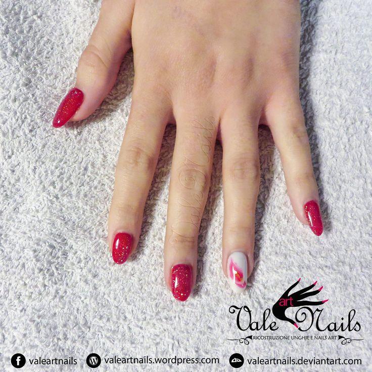 #nail #nailart #nails #beauty #fashion #glitter #red #redscarlet #flower #style #naildesign #october #picoftheday #photooftheday #instanails #instapic #nailaddict #nailartwow #showmynails #valeartnails #nailsofinstagram #girlynaildeluxe #nailsoftheday #nails2inspire #notd #trisetlo