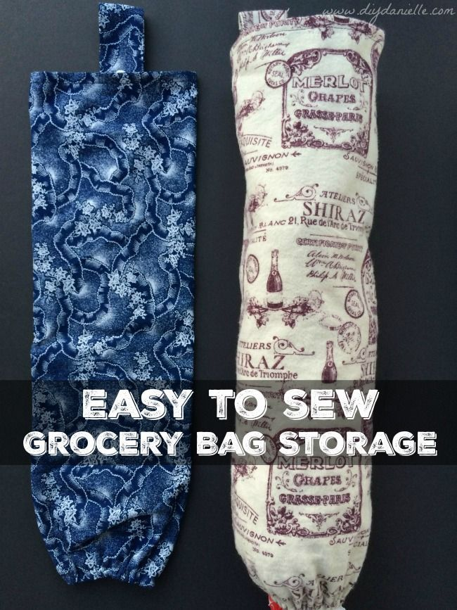 Easy to Sew Grocery Bag Holders for Easy Gifts