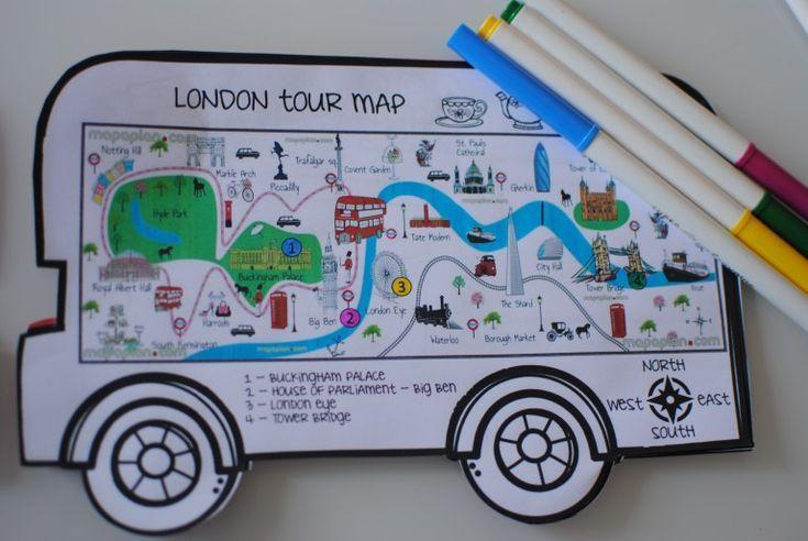 London Bus Tour Minibook: Lassen Sie uns gemeinsam…